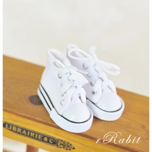 [1/4 & 1/3 Girl] Cute Sneakers - US001 White