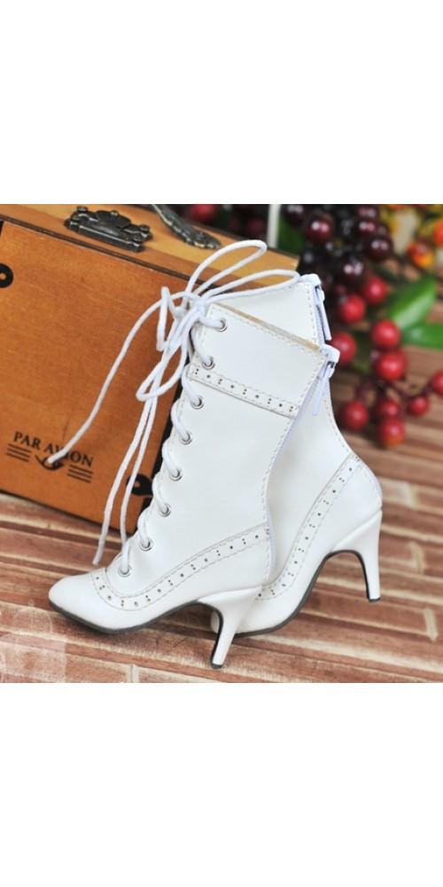 [Pre]1/4 - MSD/MDD/MiniFee/AngelPhillia - Antique high heels pumps boot BLS008 - White