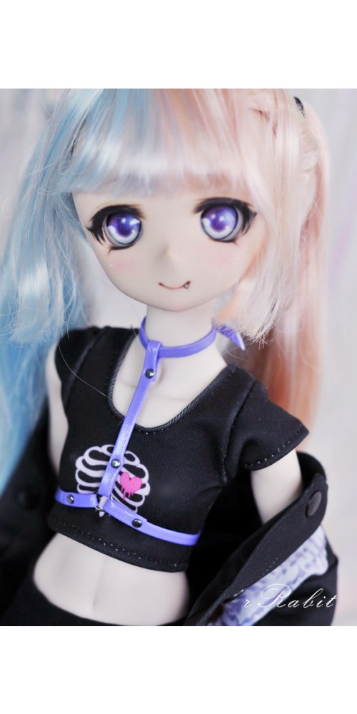 [1/4/MDD] T-Ring - Violet Leather Accessory - ZD011