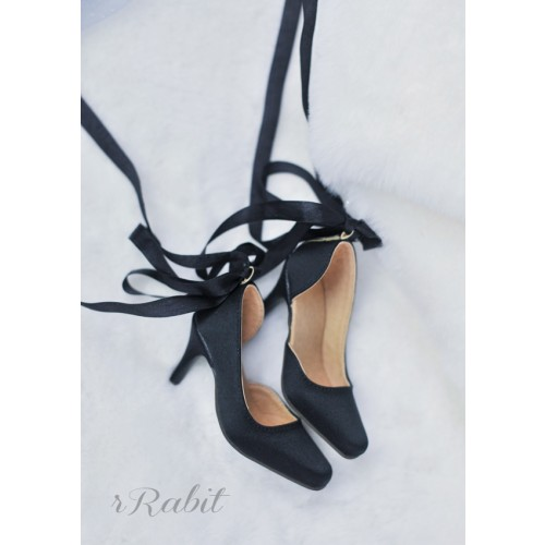 1/3Boy Highheel /IP Women -Ballet Mary Jane shoes[BLS007] Silk Black